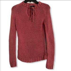 American Eagle pink vintage v-neck knit sweater